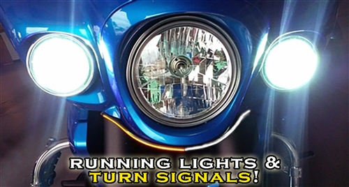 Kawasaki 2009 2015 Vaquero Front Turn Signal Running
